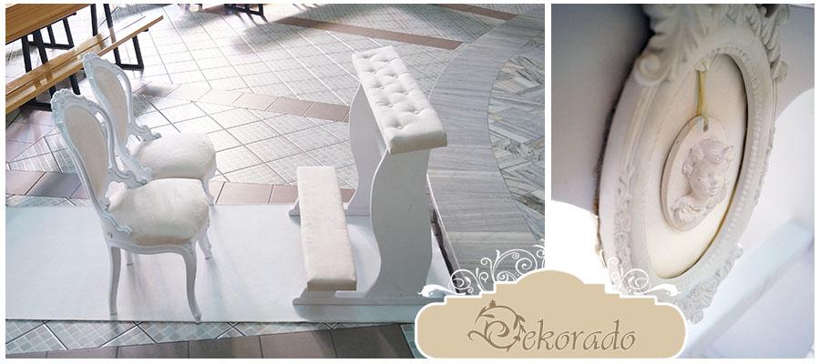 Doskonały zestaw - krzesła i klęcznik