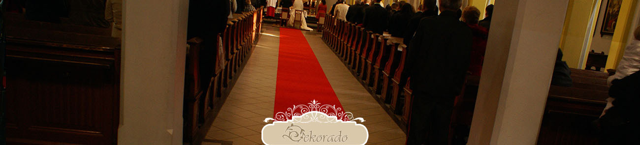 Czerwony dywan ślubny