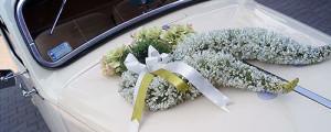 dekoracja auta na ślub - Gliwice